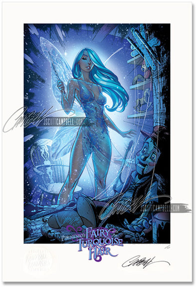 FTF Turquoise Fairy 2012 Limited Edition Print 13x19