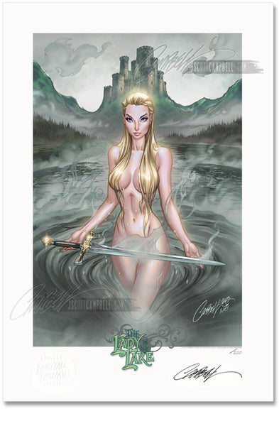 FTF The Lady in the Lake 2014 Limited Edition Print 13x19