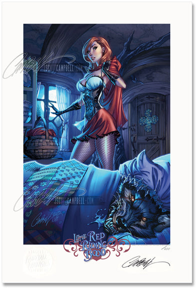 FTF Little Red Riding Hood 2014 Limited Edition Print 13x19