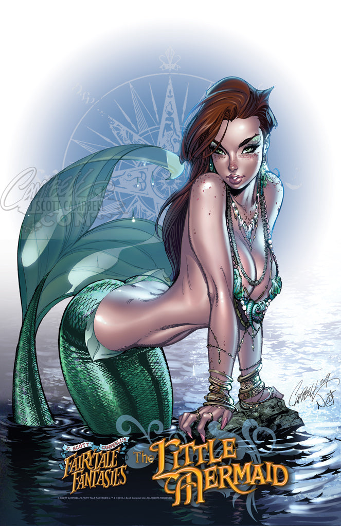 "FTF The Little Mermaid 2010 ""Statue Design"" Print"
