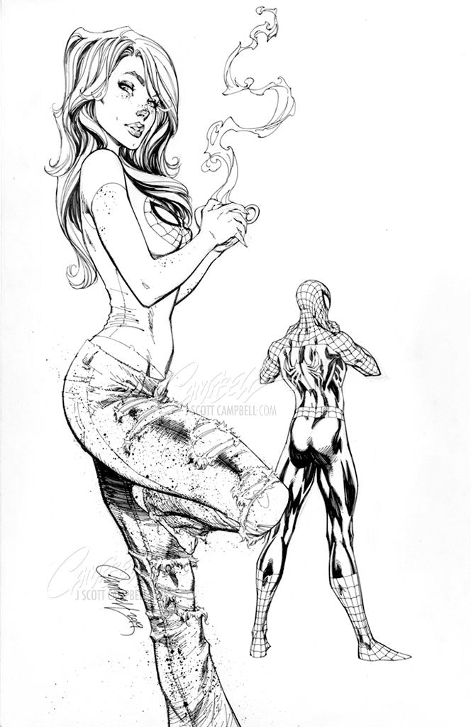 Original Art: Amazing Mary Jane #1 JSC EXCLUSIVE cover B - SOLD