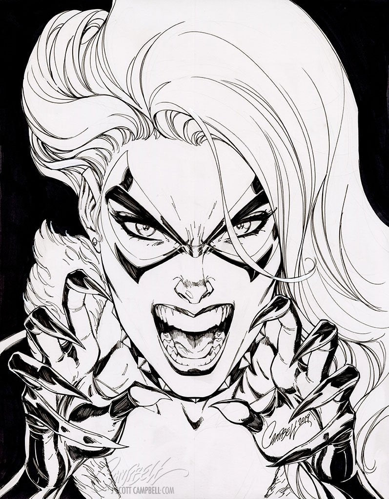 Original Art: Black Cat #6 Retail Cover - SOLD