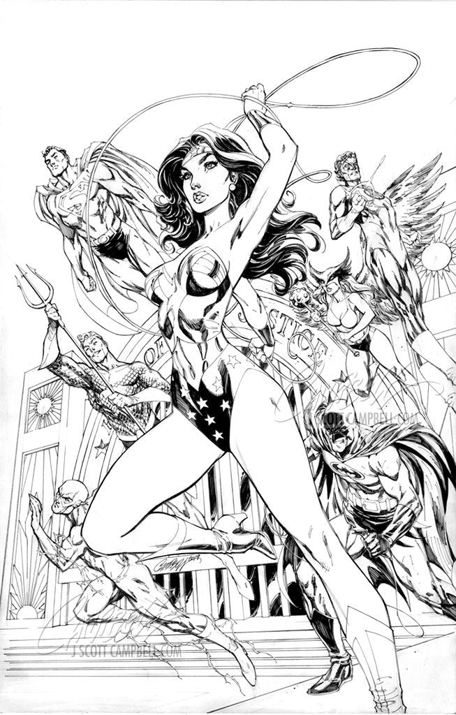 Original Art: Wonder Woman #750 JSC EXCLUSIVE cover B - SOLD
