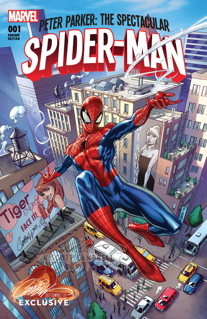 Peter Parker: The Spectacular Spider-Man #1 J. Scott Campbell Store EXCLUSIVE Cover