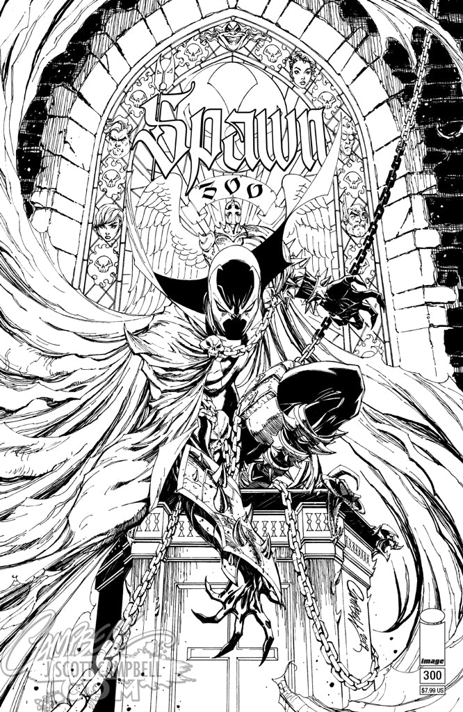 Spawn #300 J. Scott Campbell