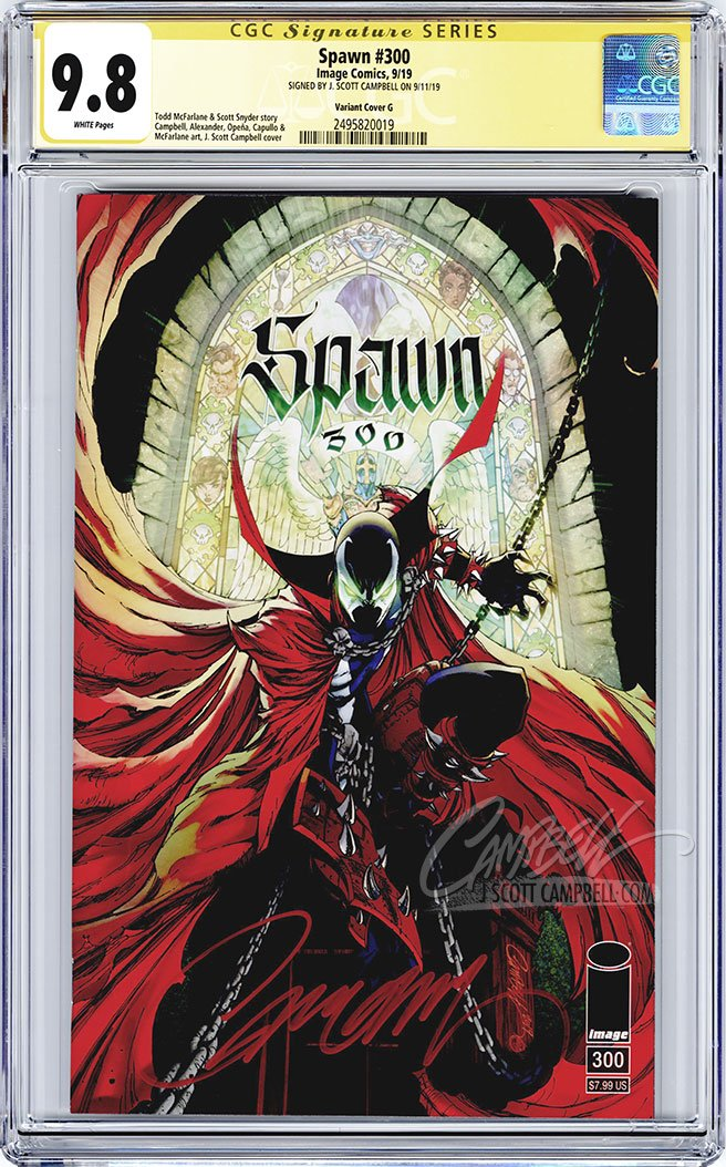 CGC 9.8 SS Spawn #300 cover G 'trade dress' JSC