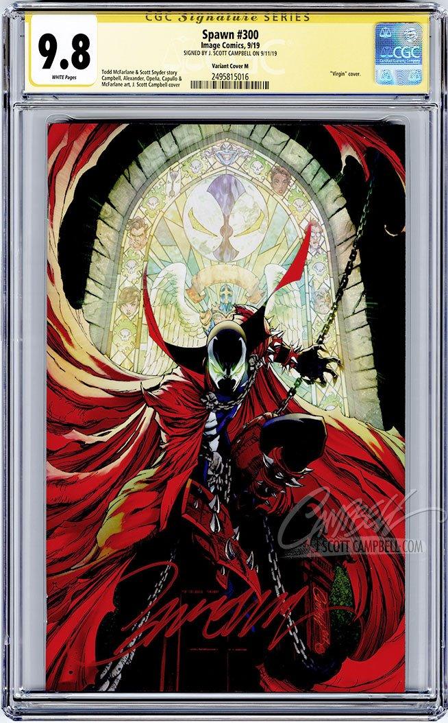 CGC 9.8 SS Spawn #300 cover M 'virgin' JSC