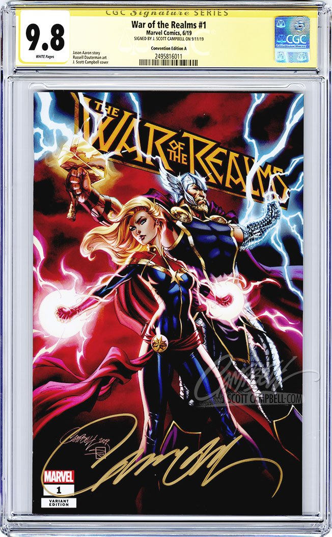 CGC 9.8 SS War of the Realms #1 'FanExpo' cover A 'Premium' JSC