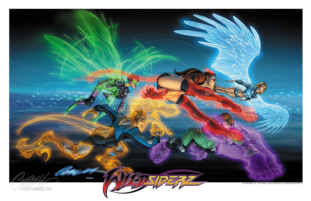 "WildSiderz ""Charge!"" 2004 17x11 Print"