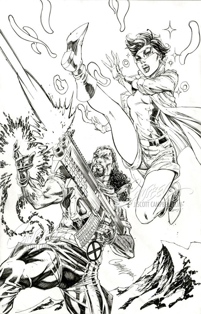Original Art: X-Men Legends #1 JSC EXCLUSIVE cover D