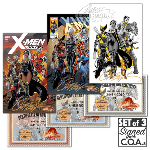 X-Men Gold #1 J. Scott Campbell Store EXCLUSIVE Cover