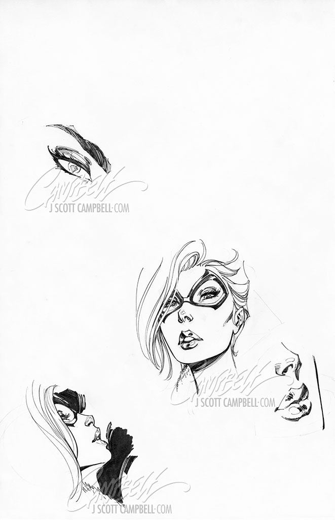 Original Art: Black Cat #8 Retail Cover