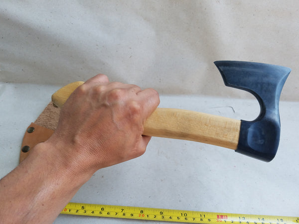Mini carving bearded axe with sheath