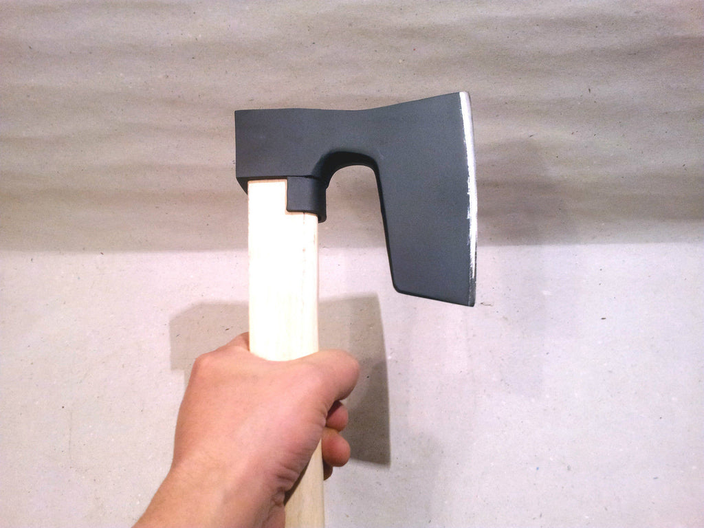 BEARDED STEEL AXE / HATCHET WITH METAL GUARD VIKING STYLE WITH HANDLE