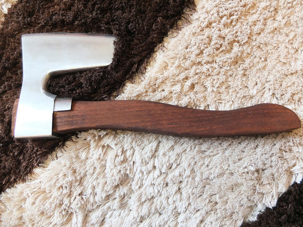 STAINLESS STEEL BEARDED AXE / HATCHET METAL GUARD  CUSTOM MADE HANDLE