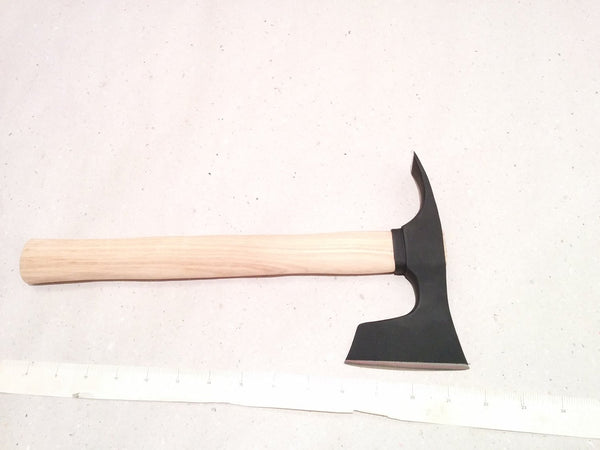 CAMPING BEARDED HATCHET - AXE COMBINED WITH ADZE BLADE BUSHCRAFT TOOL
