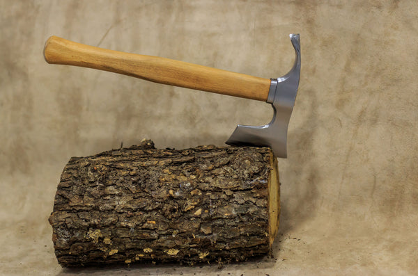 Bearded hatchet / axe combined with curved adze blade by mapsyst