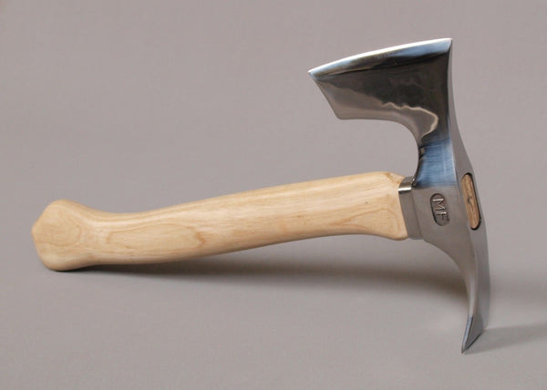 STAINLESS STEEL BEARDED HATCHET AXE WITH ADZE BLADE -TWO BLADES TOOL!