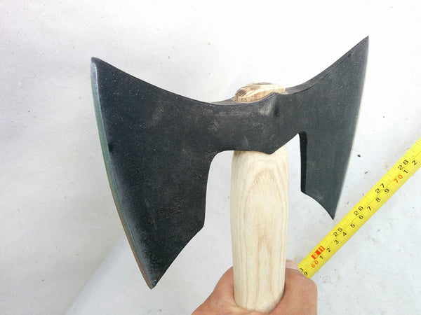 Twin Blade Double Bit Viking Style Tomahawk Battle Axe