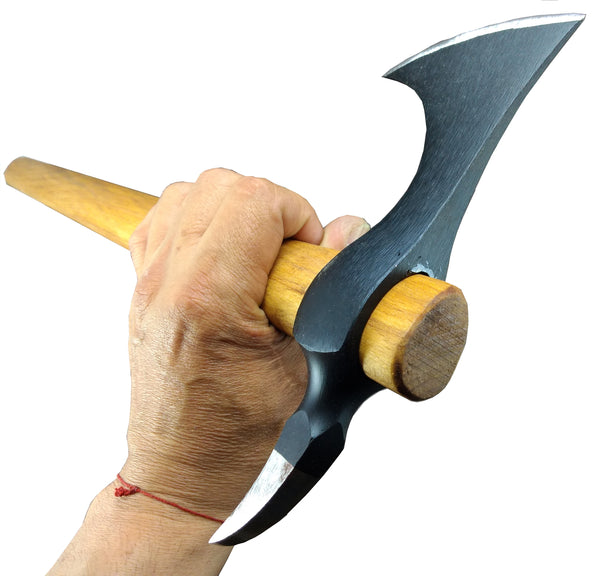 Bearded Spike Tomahawk - The Black Hawk