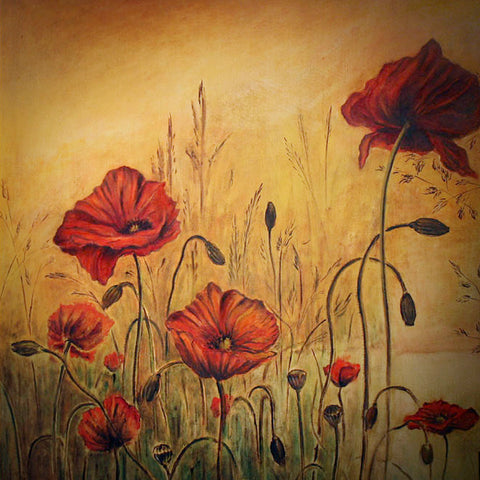 Poppies oil on canvas Eshurin Rostislav