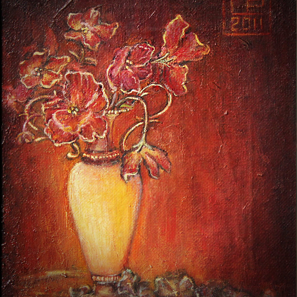 Bouquet with violets oil on canvas Eshurin Rostislav Букет с фиалками холст, масло Ешурин Ростислав