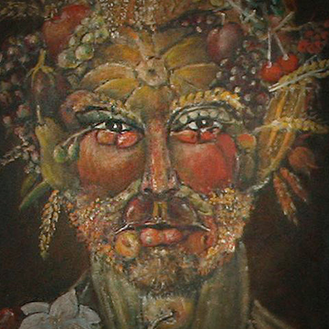 Bacchus Archibaldo style oil on canvas Eshurin Rostislav