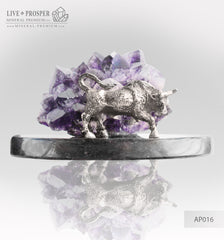 Silver with amethyst