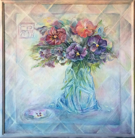 Spring bouquet oil on canvas Eshurin Rostislav