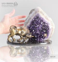 Gift Minerals Amethyst with bronze Подарки из минералов и бронзы