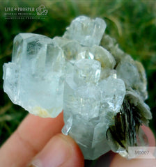 Sky Blue aquamarine 261 CT with Muscovite