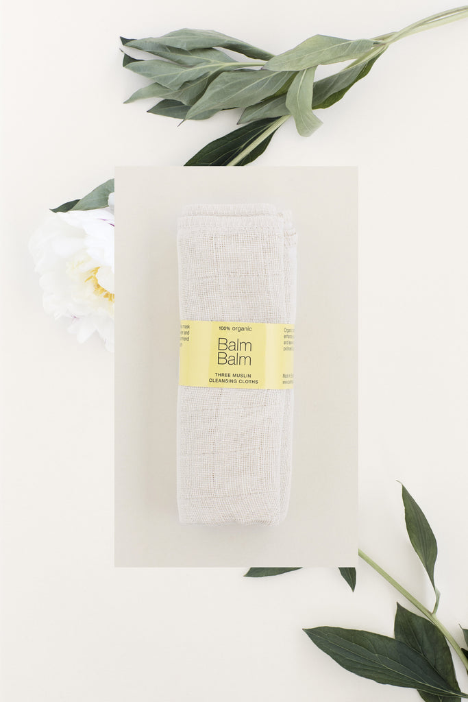 BALM BALM THREE MUSLIN CLEANSING CLOTHS 100% ORGANIC (3 STYK)