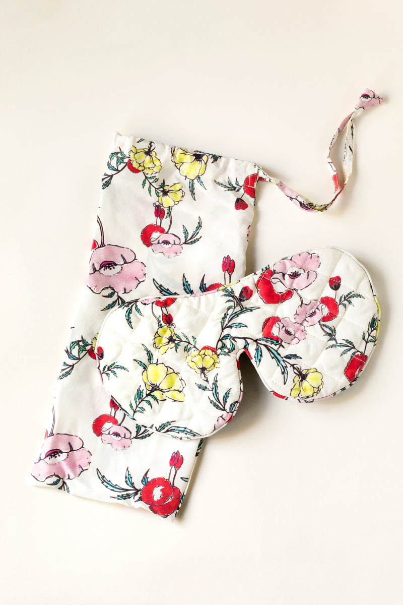 I Love My Bed Silk Sleep Mask - The Print Collection