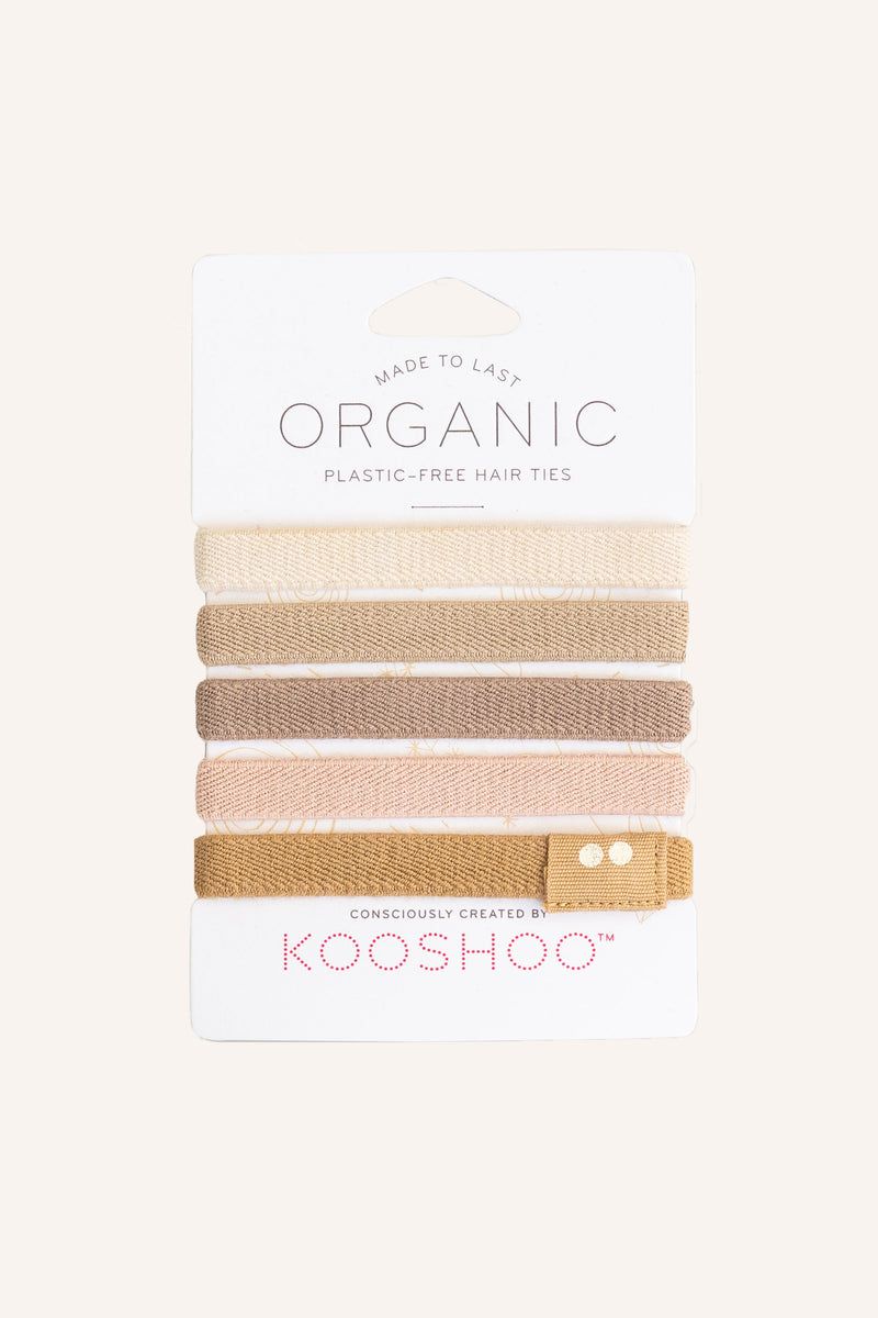 Organic Plastic-free Hair Ties - Blond