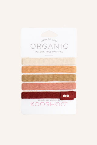 Organic Plastic-free Hair Ties - Ginger