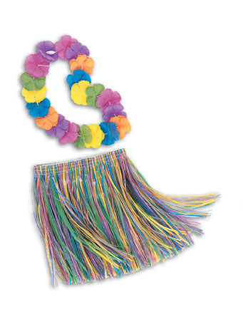 Grass Skirt & Lei - Childs