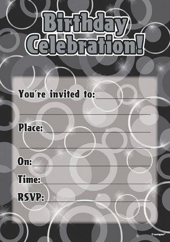 Glitz Birthday Invitations