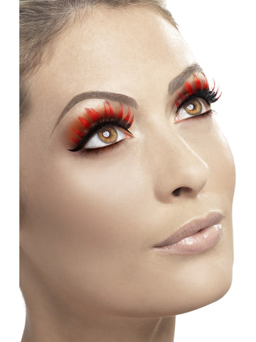 Eyelashes - Diamonte - Black/Red