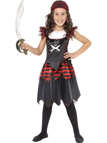 Pirate Girl Costume - Skull & Crossbones - Childs