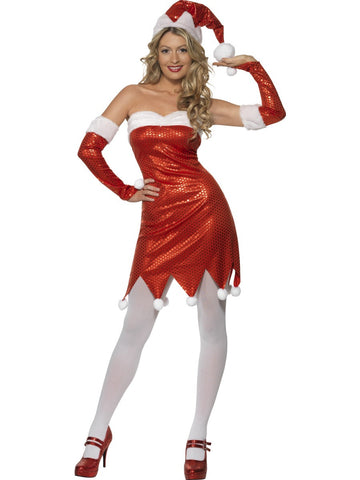 Miss Santa Costume - Sequin