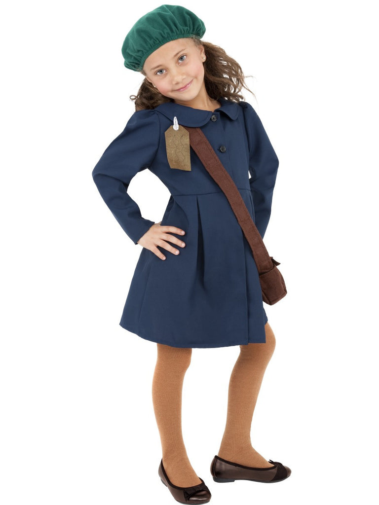 World War 2 Evacuee Girl Costume - Childs
