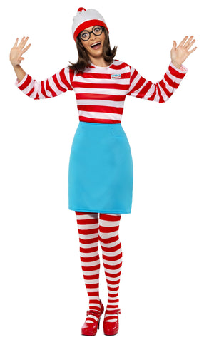 Where's Wally Wenda Costume - Adult
