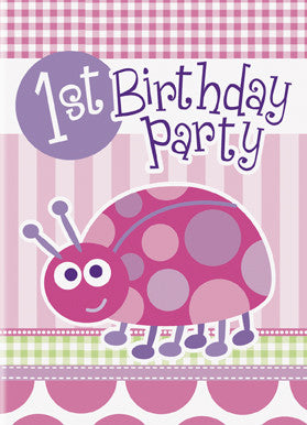 First Birthday Ladybug - Invitations