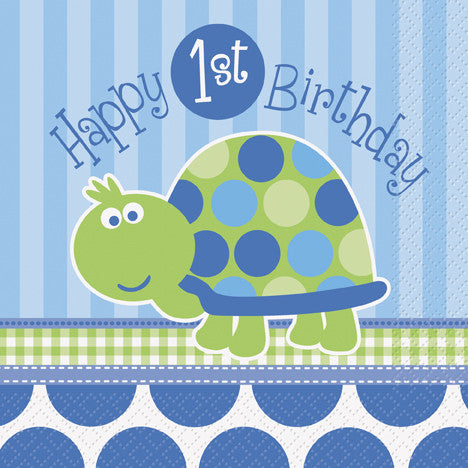 First Birthday Turtle - Napkins