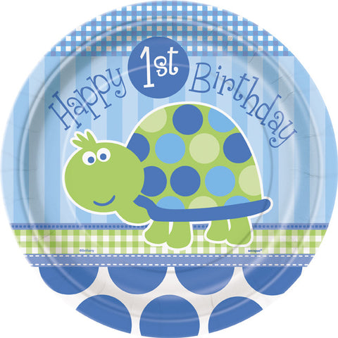First Birthday Turtle - Plates 9""
