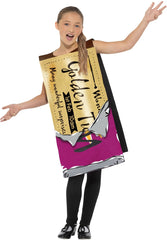 Roald Dahl Winning Wonka Bar Costume - Childs