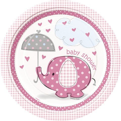 Baby Shower - Umbrellaphants - Plates