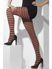Tights - Striped - Green/Red