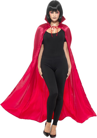 Cape - Red - Satin - Unisex