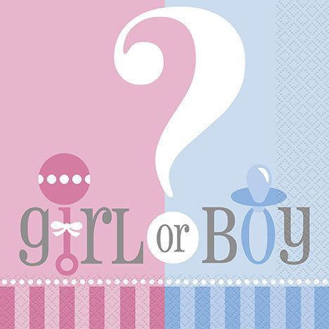 Baby Shower - Boy or Girl? - Napkins